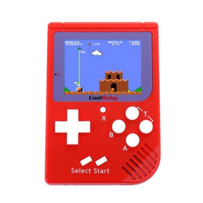 Ragazzo di Colore di colore Giocatore del Gioco Console di Gioco portatili Built-In 129 Giochi Classici Per Il Ragazzo Hand Held Giochi