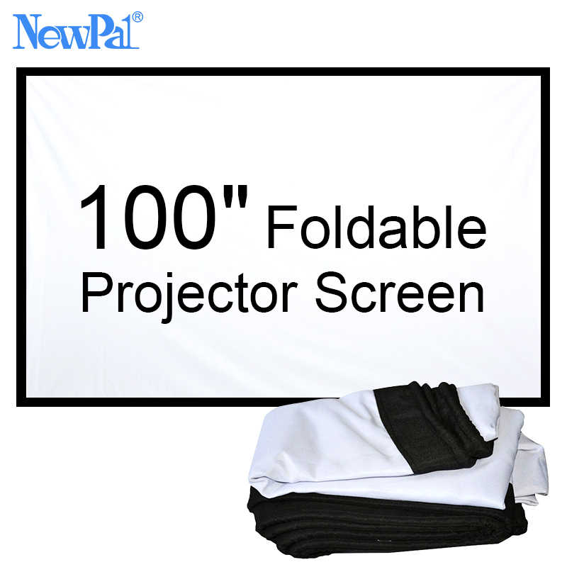 NewPal 100 inch Projector screen 4:3/16:9  Foldable projector Screen for Outside Home Cinema Movies