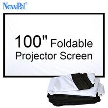 NewPal 100 pouce Projecteur écran 4:3/16:9 Pliable projecteur Écran pour L'extérieur Home Cinéma Films