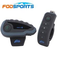 Fodsports V8 + Пульт Дистанционного Управления 5 мотоциклистов bluetooth шлем интерком bt переговорные гарнитуры с FM moto intercomunicador