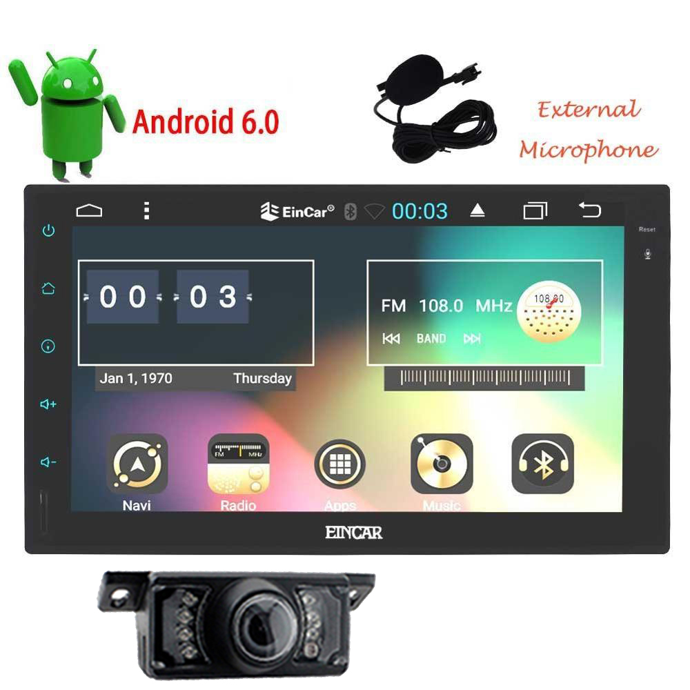 Lastest 7 Double 2Din Android 6 0 Universal Car font b gps b font Radio Quad