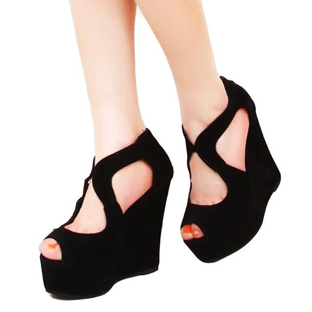 Сандалии 2018 Лето Платформа Высокие каблуки туфли сандалии на платформе,  женские классические шнуровка открытый носок c96dcba8eb0