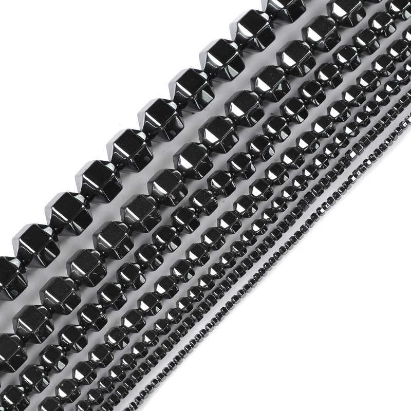 Kamień naturalny Faceted okrągły kształt czarny hematyt koraliki 2/3/4/6/7/10/12mm 202 sztuk koraliki do tworzenia biżuterii DIY bransoletka naszyjnik