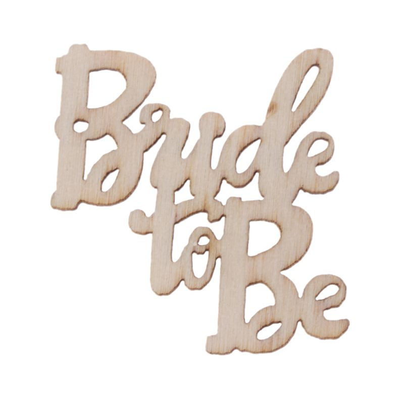 15Pcs Wooden Bride To Be Table Confetti Scatter Vintage Rustic Wedding Party Decor Craft Scrapbook Decorations in Party DIY Decorations from Home Garden