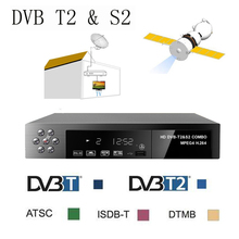 Hot Satellite receiver HD Digital DVB T2+S2 TV Tuner Receivable MPEG4 DVB-T2 TV Receiver T2 Tuner Free Shipping Support bisskey