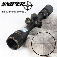 SNIPER NT 3 5 10X40 AOGL Hunting Riflescopes Tactical Optical Sight Full Size Glass Etched Reticle