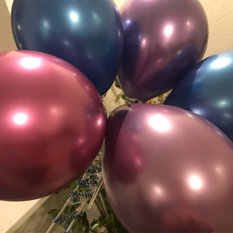 New Mixed Rose Gold Wedding Balloon Metal Confetti Balloon Sets Birthday Party Decorations Adult Kids BabyShower Air Ball Decor in Ballons Accessories from Home Garden