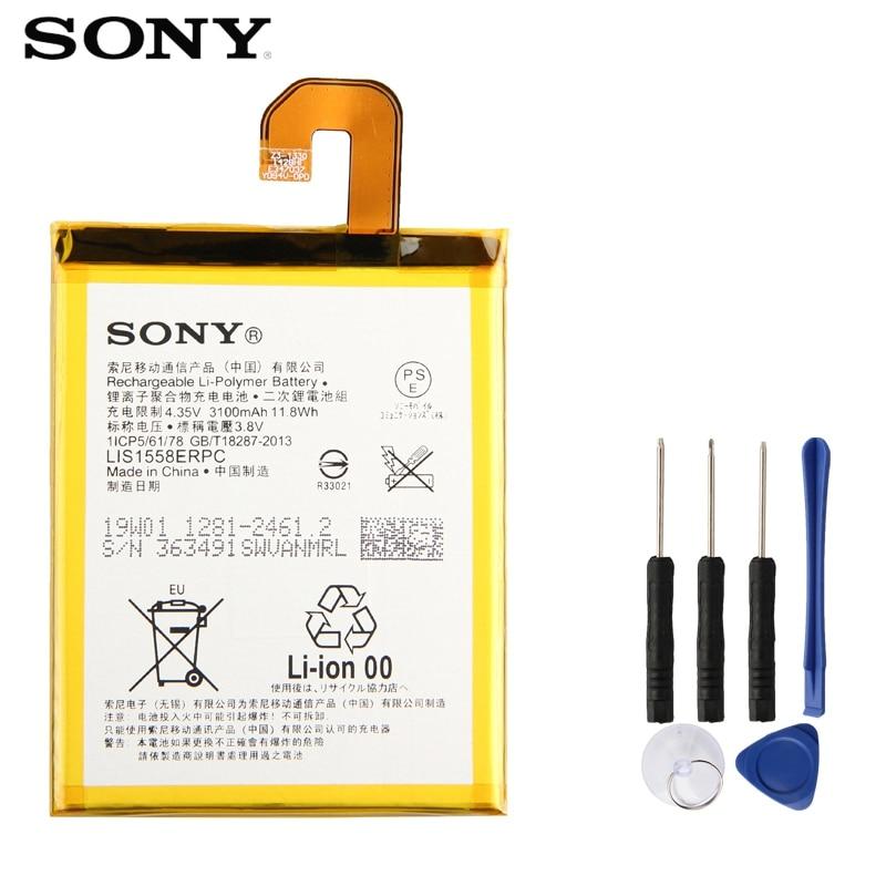 SONY Battery For Replacement LIS1558ERPC 3100mah Original D6653 L55U L55T Z3