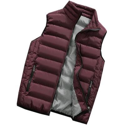 Image 2 - Male Cotton Vest Autumn and Winter Male Vest Couple Solid Color Thickening Vest Men Sleeveless Vest Jacket Waistcoat Large Size-in Vests & Waistcoats from Men's Clothing