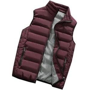 Image 2 - Male Cotton Vest Autumn and Winter Male Vest Couple Solid Color Thickening Vest Men Sleeveless Vest Jacket Waistcoat Large Size