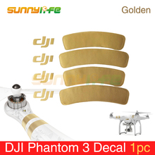 Аксессуар для Phantom 3 Золотой наклейки/Arm Стикеры для DJI Phantom 1/2/3 Универсальный наклейка на жилье Phantom 3 наклейка/Стикеры