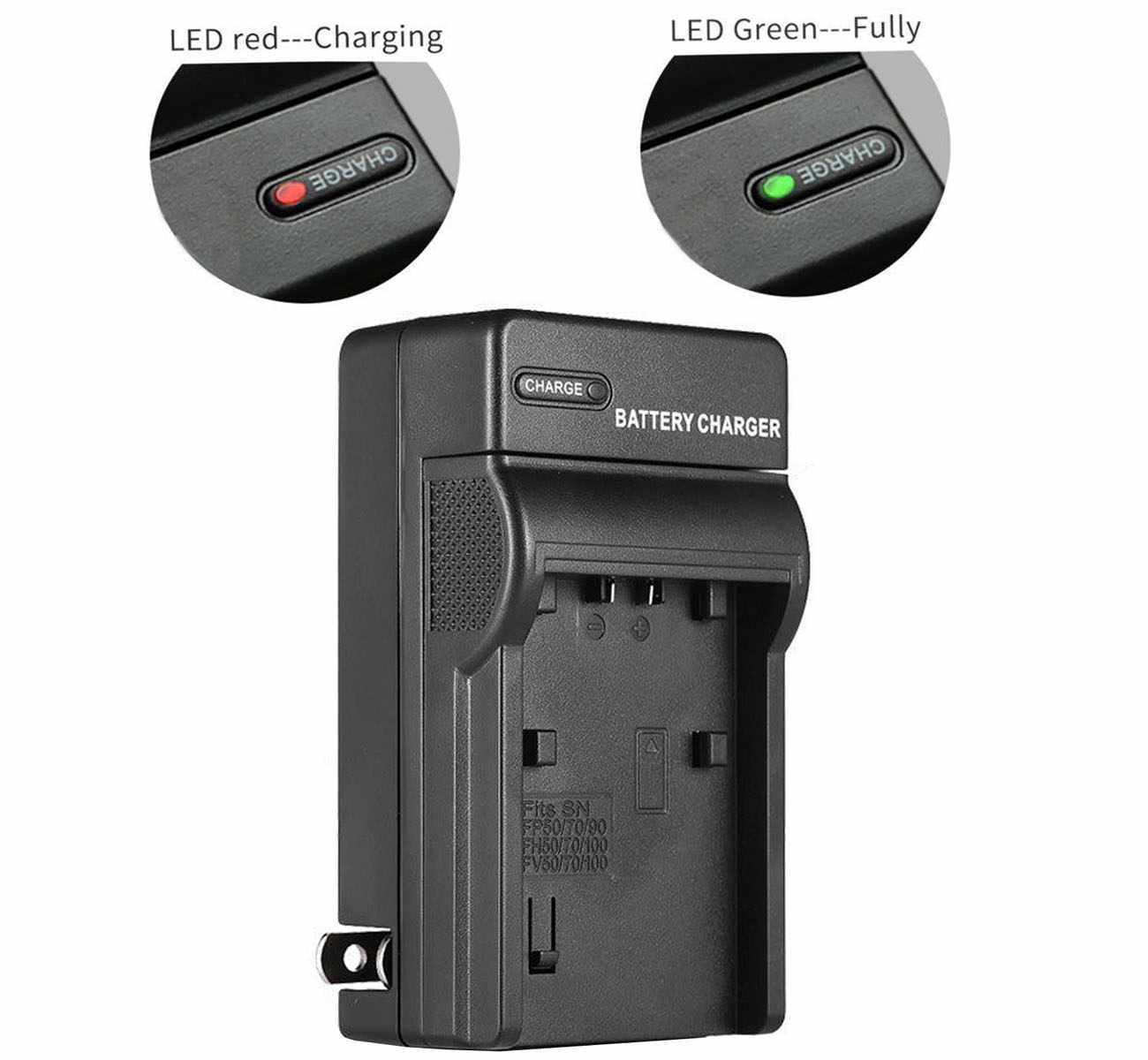 HDR-CX260VE HDR-CX270E HDR-CX280E Battery Charger for Sony HDR-CX250E HDR-CX290E Handycam Camcorder