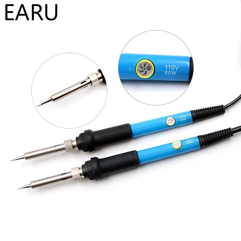 Eletric Soldering Iron 60W Adjustable Temperature Electric Solder Iron Rework Station Handle Heat Pencil Welding Repair Tools