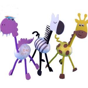 لعب للأطفال الحرف الاطفال DIY محلية الصنع 3D الحيوانات رياض الأطفال التعلم التعليم المبكر لعب وسائل تعليمية منتسوري