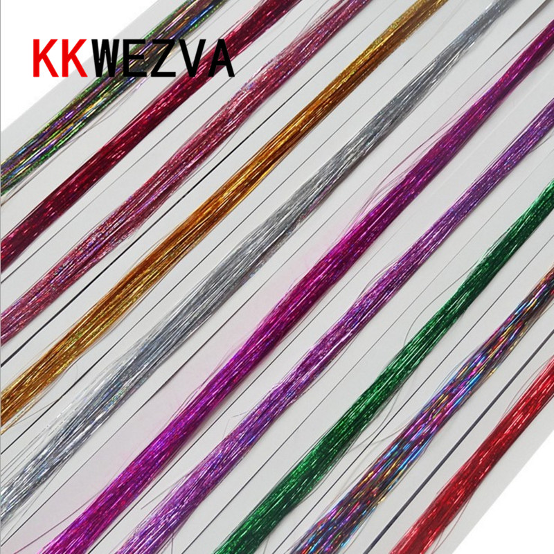 10Packs 0.3mm mix colors Flashabou Tinsel colorful Flat Glittering Crystal Flash Fly Fishing lure herl baits Fly Tying material