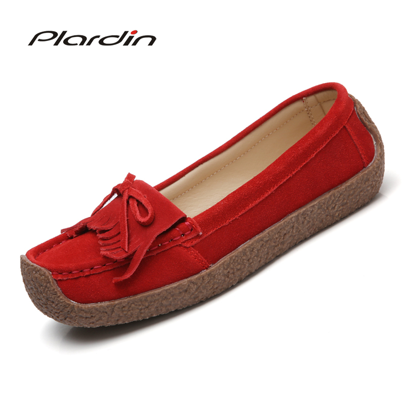 plardin 2017 Ballet Summer Women round toe Genuine Leather lace up Shoes Flats Flexible  Casual Fashion Pregnant Woman Loafers taya t b 12032 neck coral