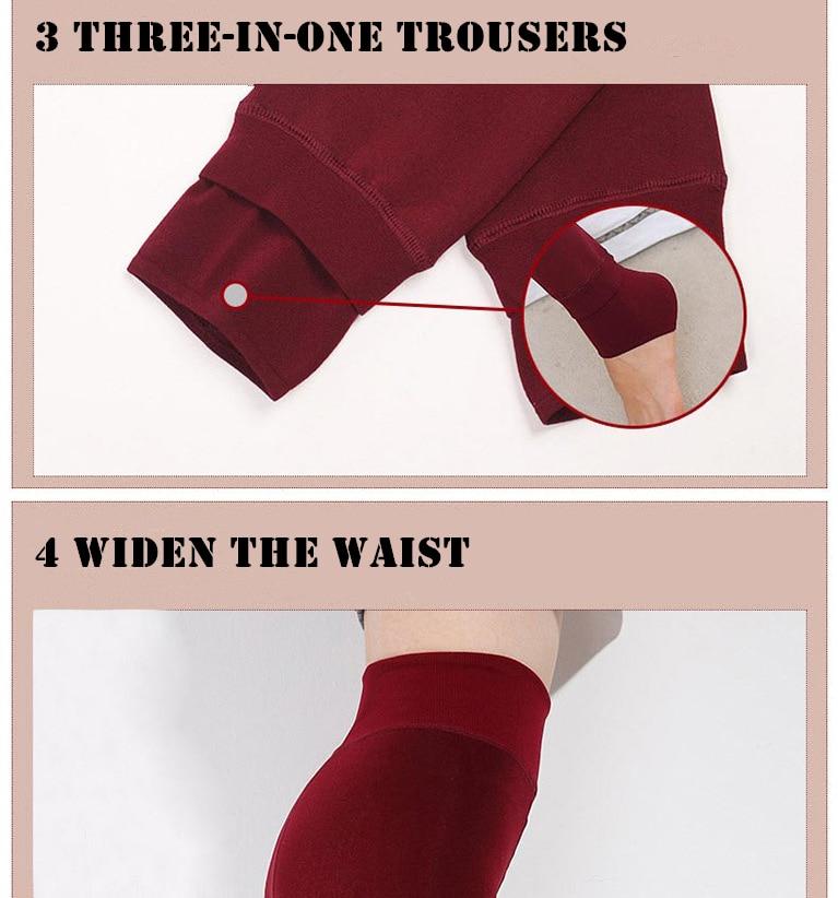 YRRETY Winter Warm Velvet Thick Skinny Pants Women Plus Size High Waist Leggings Trousers Female Clothing Pencil Pants Femme 55