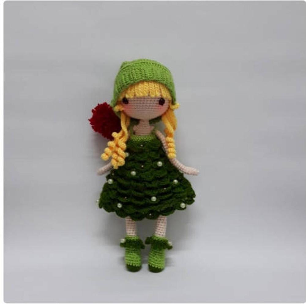 Crochet Toys  Amigurumi  Rattle  Fashion Doll Girl Model  Number  SQ0021