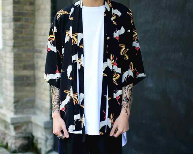 11d487d36 ... 2019 new mens kimono designer cool japanese clothes swag male  streetwear casual outwear jackets harajuku cardigan
