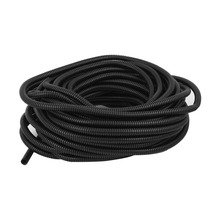 Uxcell 7mm Inner Diameter 15.8m Long Black Flexible Insulated Polyethylene Corrugated Tube Hose Pipe for Wire Tubing