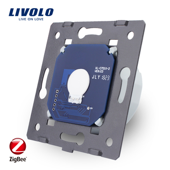 Livolo Base of Touch Screen ZigBee switch  Wall Light smart Switch, without the glass panel  , EU Standard, AC 220~250V,VL-C701Z uk standard pearl crystal glass panel timer delay switch ac 220 250v vl c301t 61 digital touch timer control home light switch
