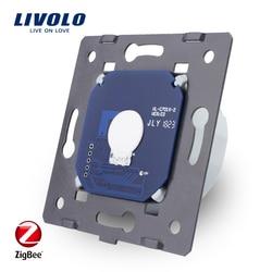 Livolo interruptor ZigBee Base de Tela de Toque inteligente Interruptor de Parede de Luz, sem o painel de vidro, Padrão DA UE, AC 220 ~ 250 V, VL-C701Z