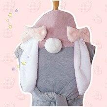 Принцесса сладкий Лолита Висячие кроличьи уши кролика шерсть шарф Лук Теплый зимний W03