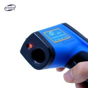 Image 5 - الرقمية ليزر غير الاتصال الأشعة تحت الحمراء ميزان الحرارة GM321 50 ~ 380C ( 58 ~ 716F) 0.1 1.0 قابل للتعديل IR ليزر نقطة بندقية البيرومتر