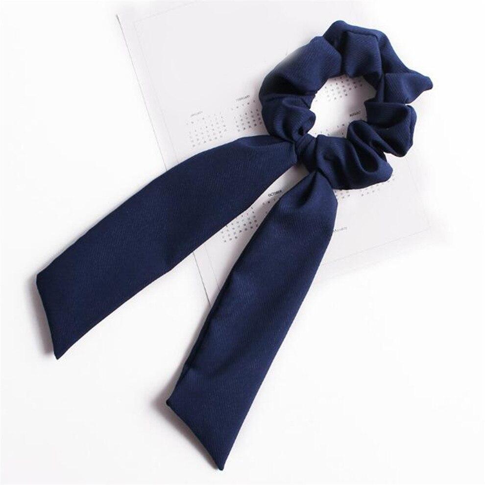 Богемные резинки для волос в горошек с цветочным принтом и бантом, женские эластичные резинки для волос, повязка-шарф, резинки для волос, аксессуары для волос для девочек - Цвет: A2