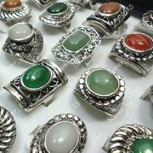 Кольцо женское из натурального тибетского серебра 60 шт