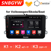 Ownice K1 K2 K3 8 Core Android 9.0 4G RAM 32G ROM 2 Din Car DVD GPS Navi Radio Player For VW Golf Skoda Multimedia Car DH233