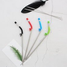 Set of Bent Stainless Steel Straws