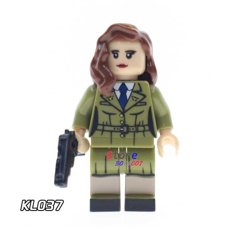 1 Uds. Modelo de bloques de construcción superhéroes de acción Sharon Carter hobby niños kits juguetes clásicos de CC diy para niños regalo