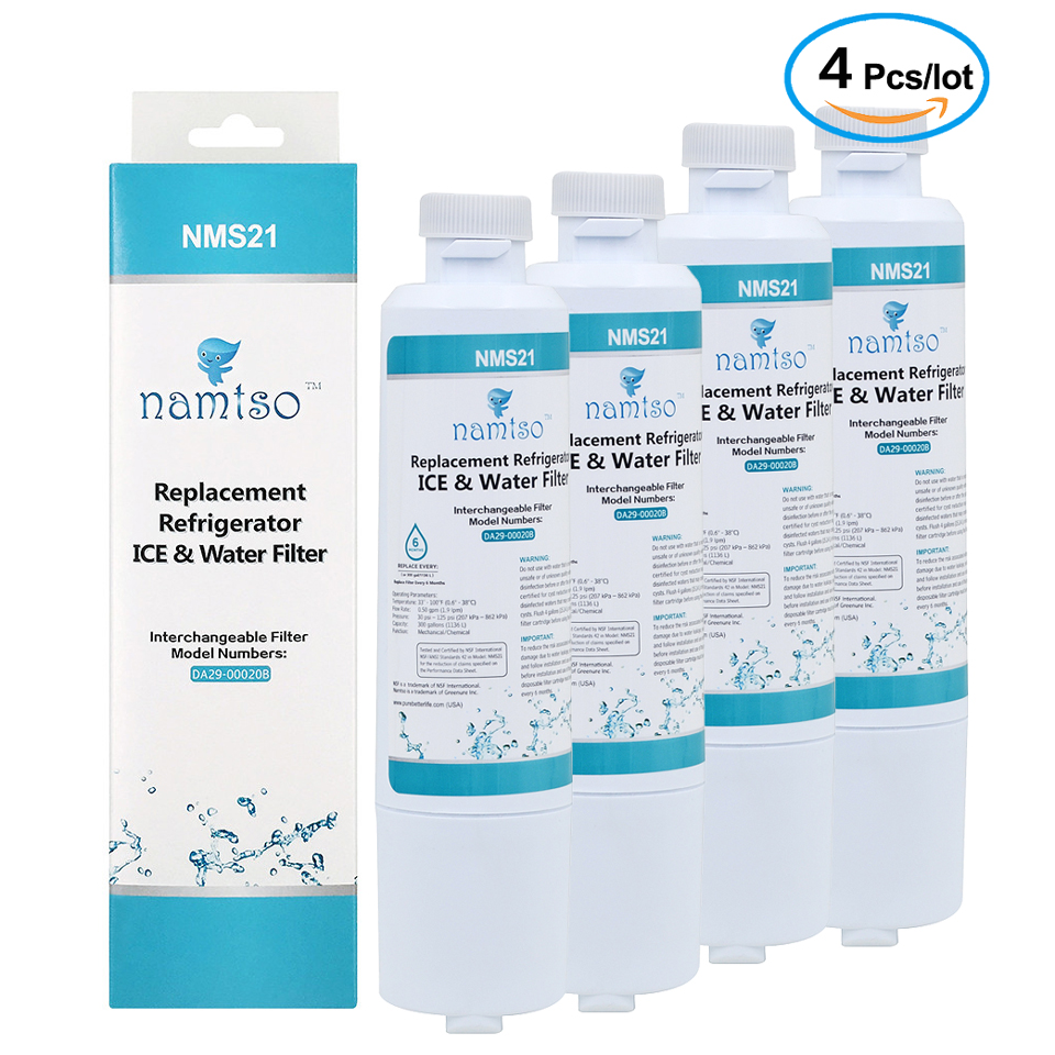 New Brand Namtso NMS21 Water Purifier Household Refrigerator Ice & Water Filter Replacement for Samsung DA29-00020B/A 4 Pcs/lot  samsung filter refrigerator   How To: Replace The Water Filter On Your Samsung French Door Refrigerator Using Filter HAF-CIN New Brand Namtso NMS21 Water Purifier Household font b Refrigerator b font Ice Water font b
