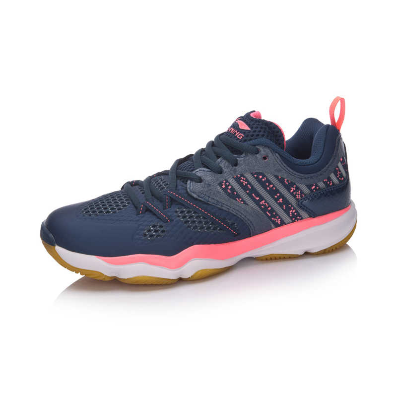 Li-ning נשים ריינג 'ר TD בדמינטון נעלי יציבות TPU תמיכה סניקרס החלקה-התנגדות רירית ספורט נעלי AYTM074 SJFM18