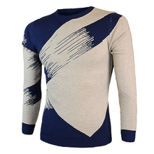 Mens Sweater With Men's Fashion Personality Winter Warm Plus Size Men's Cotton Sweater Leisure Bump Color Knitted Pullover Men