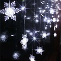 2m 104 SMD 16 Snowflake LED Light Christmas Wedding Party New year Decorations Curtain Background Light