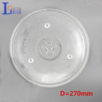 270mm Diameter Microwave Glass Plate Oven Turntable Parts