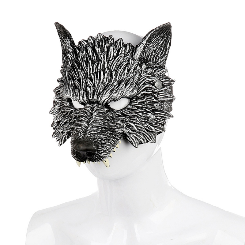 Halloween 3D Wolf Mask Party Masks Cosplay Horror Wolf Masque Halloween Party Decoration Accessories 1
