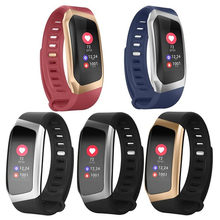 E18 pulseira inteligente monitor de pressão arterial e freqüência cardíaca fitness atividade rastreador à prova dwaterproof água esporte banda