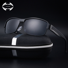 VCKA hombres gafas de Sol Polarizadas Diseñador de la Marca HD de alta calidad de la vendimia gafas de sol de marco de metal gafas de sol gafas de sol hombre