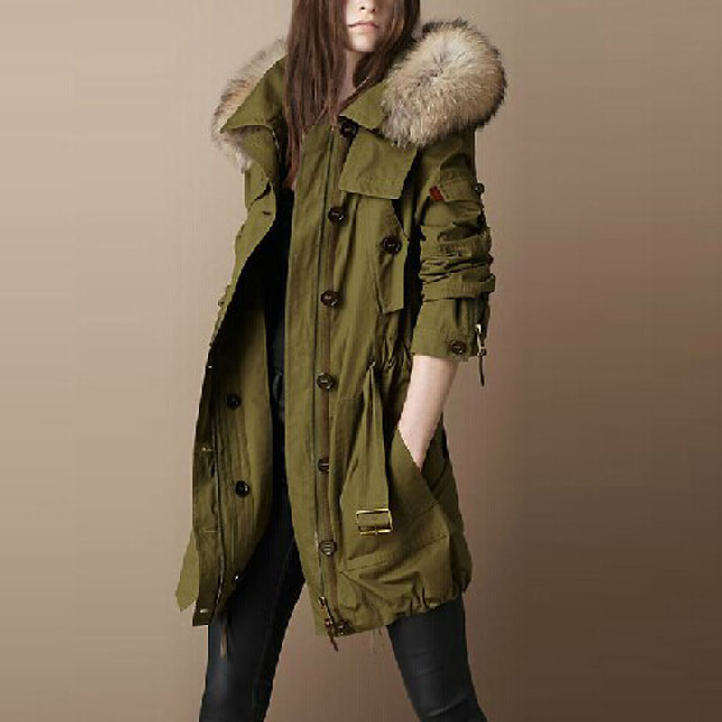 Jackets for woman parka Tops New coats autumn winter jacket women coat parkas casual dress Real Raccoon Fur brand clothing olgitum new autumn winter jacket coat women parka woman clothes solid long jacket slim women s winter jackets and coats cc107