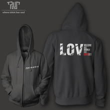 Friends love sucks love it men women unisex zip up hoodie hooded sweatershirt 800g organic cotton polyester fleece Free Shipping