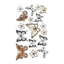 1Pc Fashion Style Temporary Tattoo Stickers Metal Butterfly Arrows Design Body Waterproof Tattoo Sticker Body Art Tools YE2