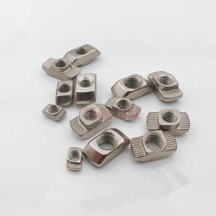 100 шт. M3 M4 M5 * 10*6 гайка слот T молота орехи T раздвижные гайки для серии 2020 Алюминий профиля