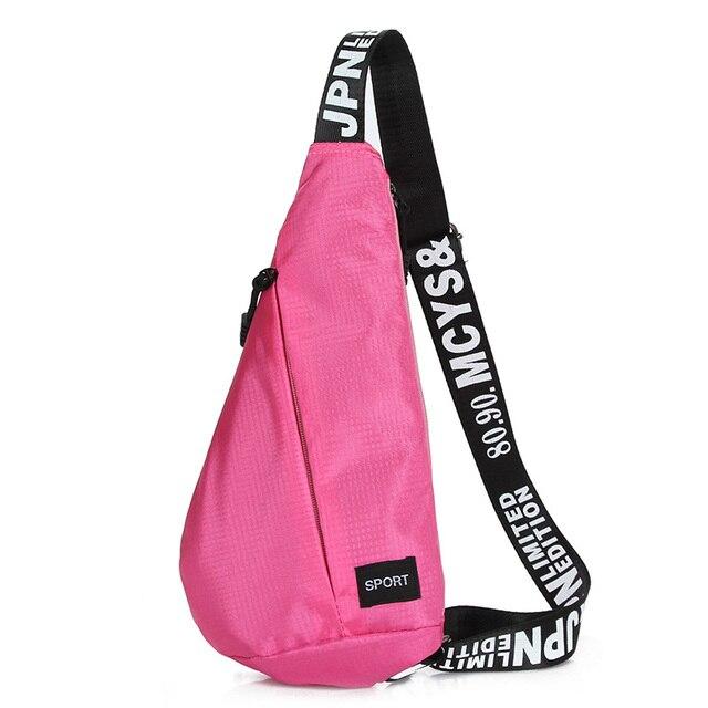 e649278b371 HUWAIJIANFENG Sports Bag Simple Leisure Outdoor Chest Cross Body Backpack  Trendy Lightweight Nylon Sling Pack For Women Men Kids