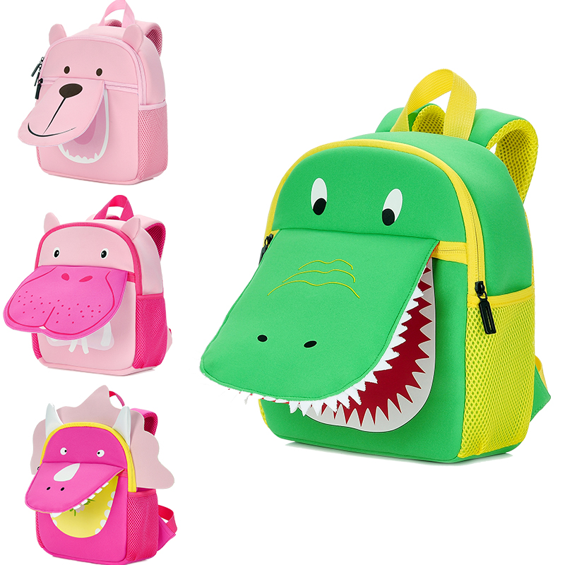 Hot Sale Children Backpack Aminals Kindergarten Plush Bags For 1-4 Years Dinosaur Anti Lost Backpack For Kids