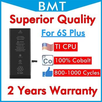 BMT Originele 10 stks/partij Superieure Kwaliteit werken met IOS 11.4 Batterij voor iPhone 6 S Plus 6SP vervanging 100% Kobalt mobiele TI2750mAh