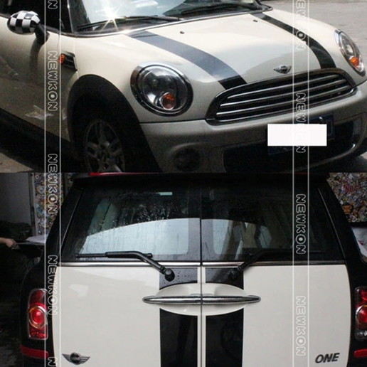 Us 3666 6 Offhoodrear Car Stickers 6pcsset For Mini Cooper S Clubman R55 Decal Auto Styling Car Hood Decals In Reflective Strips From
