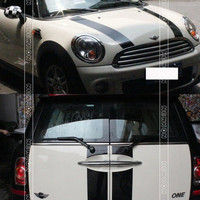 Hood Rear Car Stickers 6pcs Set For Mini Cooper S Clubman R55